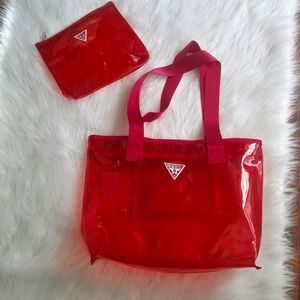 Guess See-Through Bag & Pouch